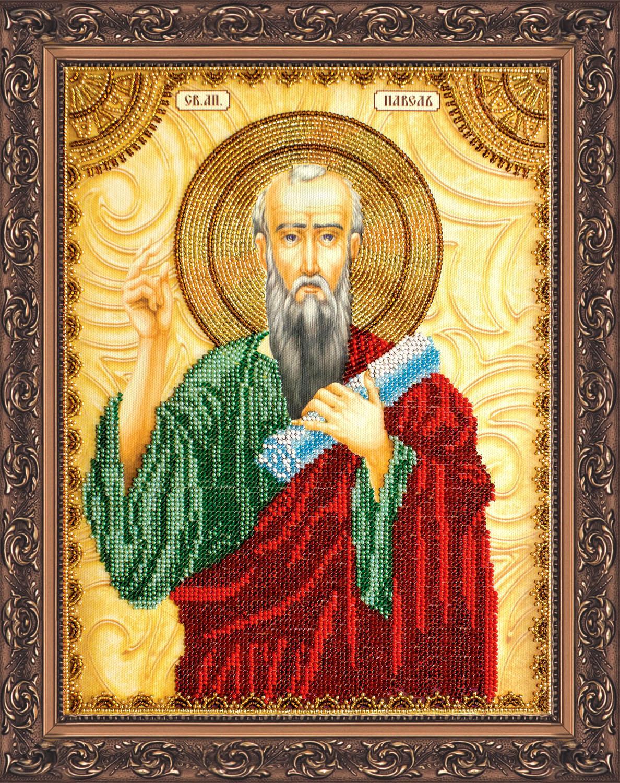 Святой Павел, сложная картина бисером
